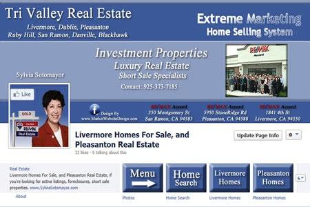 Facebook Real Estate Timeline Design Website Style