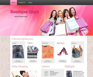 boutique store wordpress theme