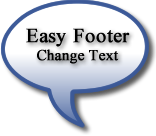 Wordpress Easy Footer Text, Change with one click
