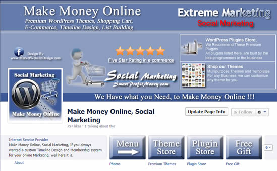 Facebook Timeline Website System