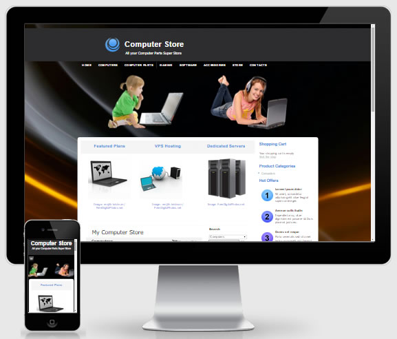 Computer Store Theme 4138